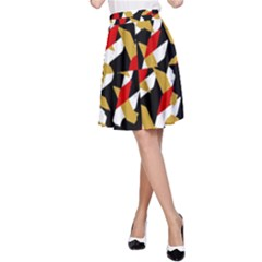 Colorful Abstract Pattern A Line Skirt
