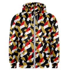 Colorful Abstract Pattern Men s Zipper Hoodie