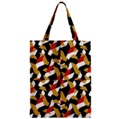 Colorful Abstract Pattern Zipper Classic Tote Bag