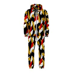 Colorful Abstract Pattern Hooded Jumpsuit (kids)