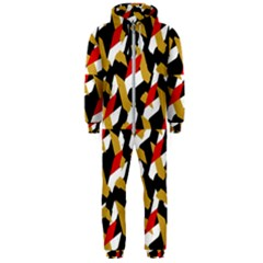 Colorful Abstract Pattern Hooded Jumpsuit (men)