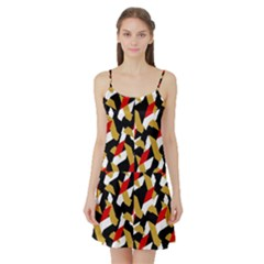 Colorful Abstract Pattern Satin Night Slip