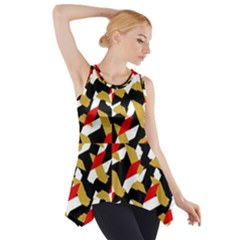 Colorful Abstract Pattern Side Drop Tank Tunic
