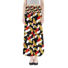 Colorful Abstract Pattern Full Length Maxi Skirt
