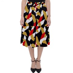 Colorful Abstract Pattern Folding Skater Skirt