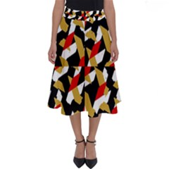 Colorful Abstract Pattern Perfect Length Midi Skirt