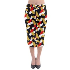 Colorful Abstract Pattern Midi Pencil Skirt