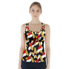 Colorful Abstract Pattern Racer Back Sports Top
