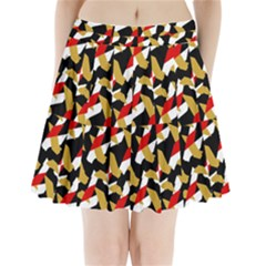 Colorful Abstract Pattern Pleated Mini Skirt