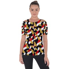Colorful Abstract Pattern Short Sleeve Top