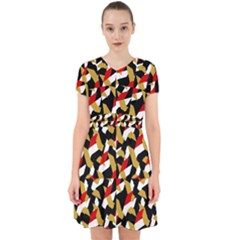 Colorful Abstract Pattern Adorable In Chiffon Dress