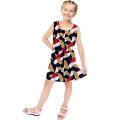 Colorful Abstract Pattern Kids  Tunic Dress