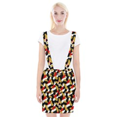 Colorful Abstract Pattern Braces Suspender Skirt