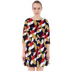 Colorful Abstract Pattern Smock Dress