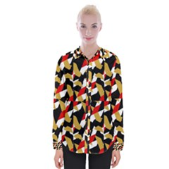 Colorful Abstract Pattern Womens Long Sleeve Shirt