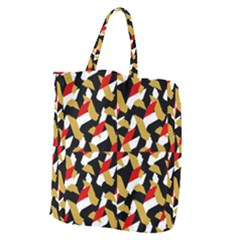 Colorful Abstract Pattern Giant Grocery Zipper Tote