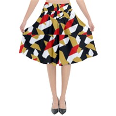 Colorful Abstract Pattern Flared Midi Skirt