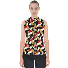 Colorful Abstract Pattern Shell Top