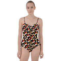 Colorful Abstract Pattern Sweetheart Tankini Set