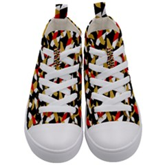 Colorful Abstract Pattern Kid s Mid Top Canvas Sneakers
