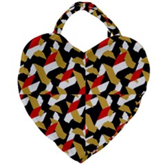 Colorful Abstract Pattern Giant Heart Shaped Tote