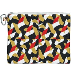 Colorful Abstract Pattern Canvas Cosmetic Bag (xxxl)