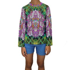 The Most Beautiful Planet Is Earth On The Sky Kids  Long Sleeve Swimwear