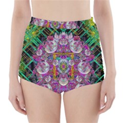 The Most Beautiful Planet Is Earth On The Sky High Waisted Bikini Bottoms
