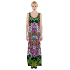 The Most Beautiful Planet Is Earth On The Sky Maxi Thigh Split Dress