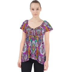 The Most Beautiful Planet Is Earth On The Sky Lace Front Dolly Top