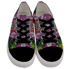 The Most Beautiful Planet Is Earth On The Sky Men s Low Top Canvas Sneakers