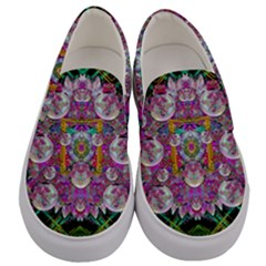 The Most Beautiful Planet Is Earth On The Sky Men s Canvas Slip Ons