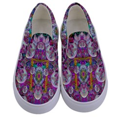The Most Beautiful Planet Is Earth On The Sky Kids  Canvas Slip Ons