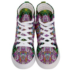 The Most Beautiful Planet Is Earth On The Sky Men s Hi Top Skate Sneakers