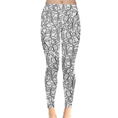 Elio s Shirt Faces In Black Outlines On White Leggings