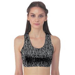 Elio s Shirt Faces In White Outlines On Black Crying Scene Sports Bra