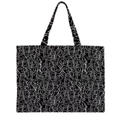 Elio s Shirt Faces In White Outlines On Black Crying Scene Zipper Large Tote Bag