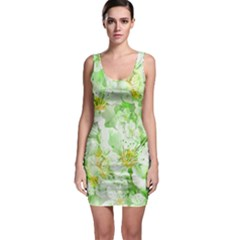 Light Floral Collage  Bodycon Dress