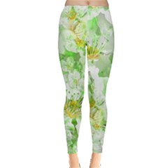 Light Floral Collage  Leggings