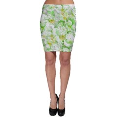 Light Floral Collage  Bodycon Skirt