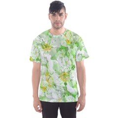 Light Floral Collage  Men s Sports Mesh Tee