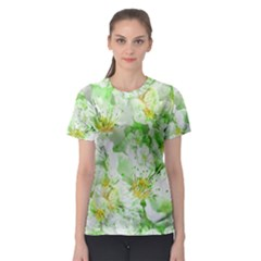 Light Floral Collage  Women s Sport Mesh Tee