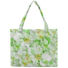 Light Floral Collage  Mini Tote Bag