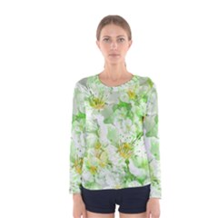 Light Floral Collage  Women s Long Sleeve Tee