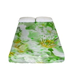 Light Floral Collage  Fitted Sheet (full/ Double Size)