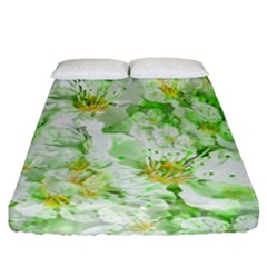 Light Floral Collage  Fitted Sheet (california King Size)