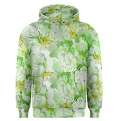 Light Floral Collage  Men s Pullover Hoodie