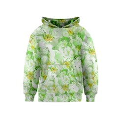 Light Floral Collage  Kids  Pullover Hoodie