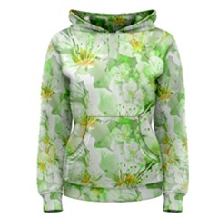 Light Floral Collage  Women s Pullover Hoodie