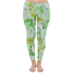 Light Floral Collage  Classic Winter Leggings
